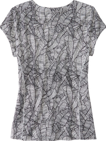 Henerala Short Sleeve Top - Linear Leaf: Image 2