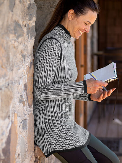 Barra Tunic Sweater - Herringbone: Image 3