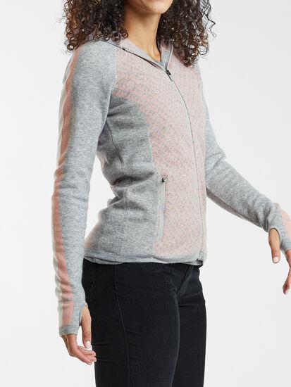Super Power Full Zip Sweater - Houndstooth Geo: Image 4