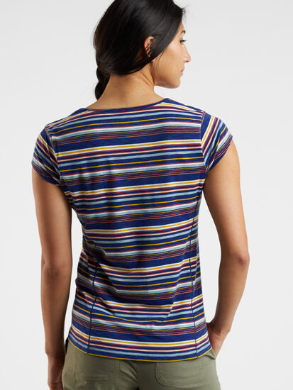 Henerala Short Sleeve Top - Fall Stripes: Image 3