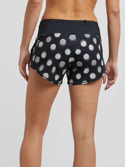 """Obsession Running Shorts 4"""" - Floral: Image 2"""