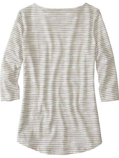 Mettle 3/4 Sleeve Top - Painted Stripe: Image 2