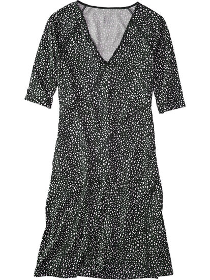 Sayonara Cafe Sleeve Dress - All Over Dot: Image 1
