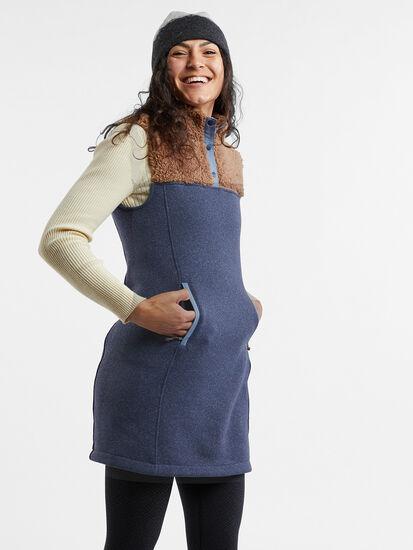 Callitrix Fleece Vest Dress: Image 4