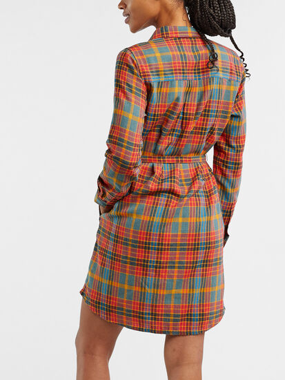 Plaiditude Long Sleeve Shirt Dress: Image 4
