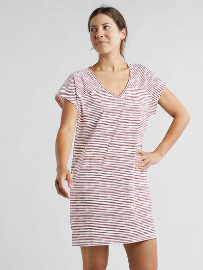 Hiolani V Neck Dress - Painted Stripe: Image 3