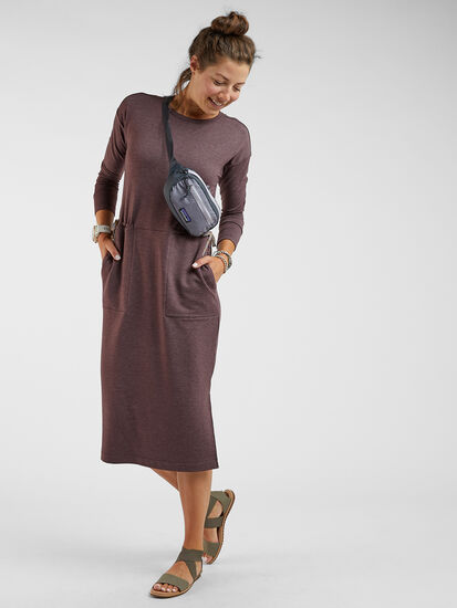 Uprising Long Sleeve Midi Dress : Model Image