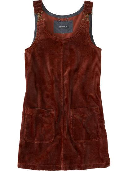 Savvy Corduroy Jumper Dress: Image 1