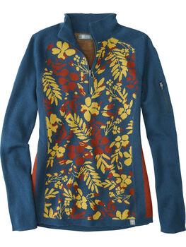 Super Power Quarter Zip Sweater - Blumen