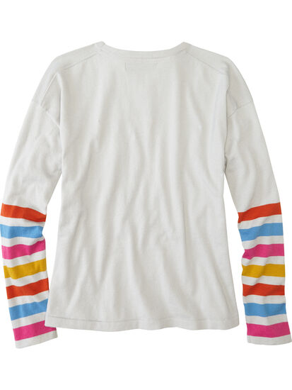 Synergy Crew Neck Sweater - Sleeve Stripe: Image 2