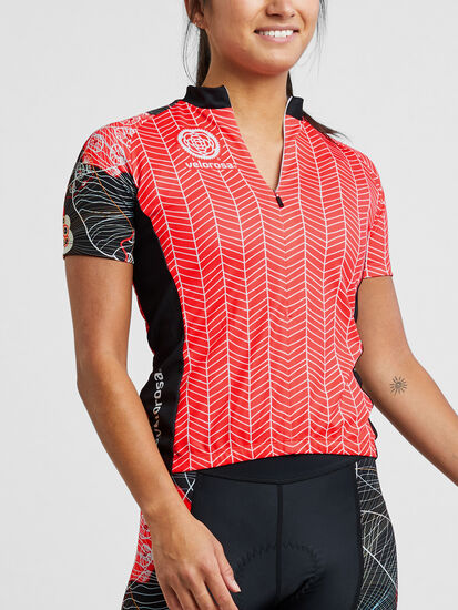 Ride Relentless Short Sleeve Cycling Jersey - Zen Garden: Model Image