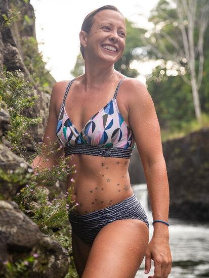Fearless Bikini Top - Colorblock Dot