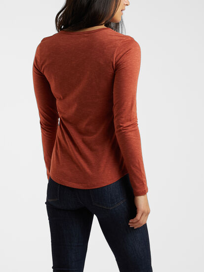 Samba V Neck Long Sleeve Tee: Image 4