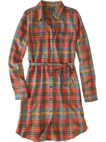 Plaiditude Long Sleeve Shirt Dress: Image 1