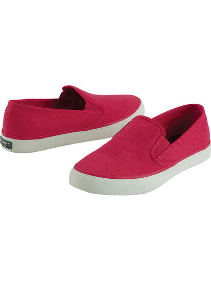 Pier Slip On Canvas Sneakers: Image 1