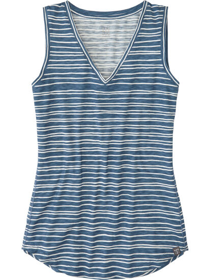 Henerala V-Neck Tank Top - Stripe: Image 1