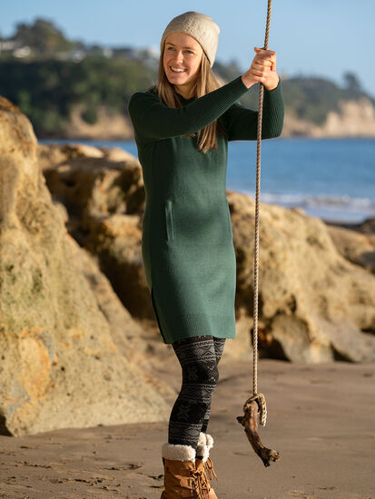 Impulse Hoodie Sweater Dress: Model Image
