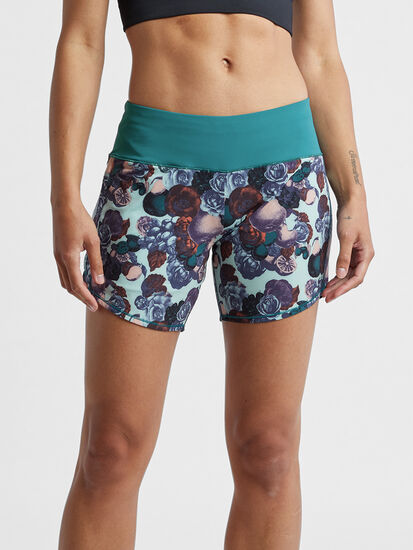 """Obsession Running Shorts 6"""" - Print: Image 1"""