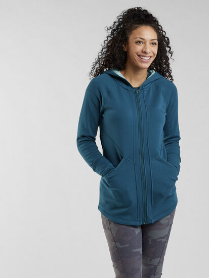 Mighty Full Zip Tunic Hoodie