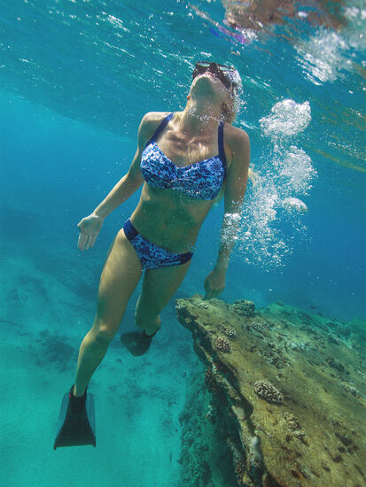Holy Grail Bikini Bottom - Feeling Blue: Model Image