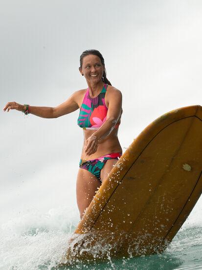 Selkie High Neck Bikini Top - Seychelles: Model Image