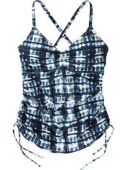 Capitola Underwire Tankini Top - Navy Tie Dye