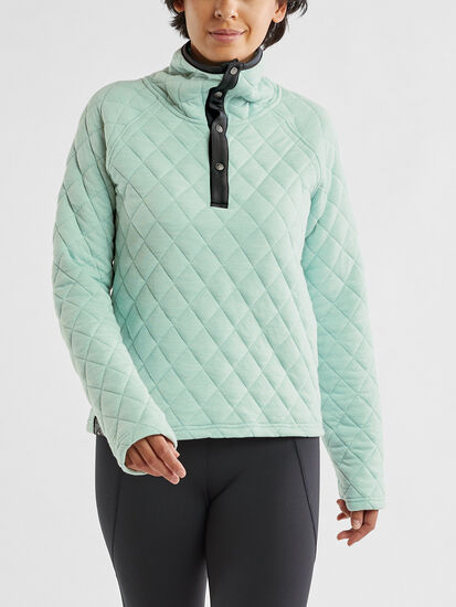 Power Up Quilted Pullover