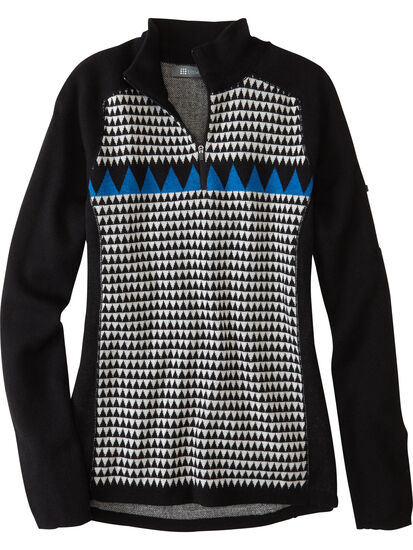 Super Power Quarter Zip Sweater - Houndstooth Geo: Image 1