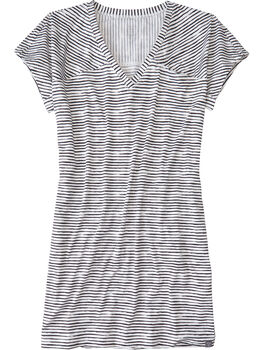 Hiolani V-Neck Dress - Painted Stripe