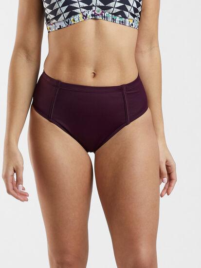 Francie High Waisted Bikini Bottom - Solid: Image 2