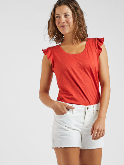 Samba Flutter Sleeve Top: Image 4
