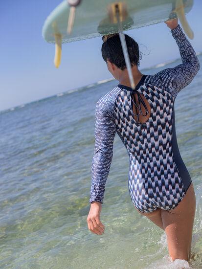 Zenith Long Sleeve One Piece Swimsuit - Shibori, , original