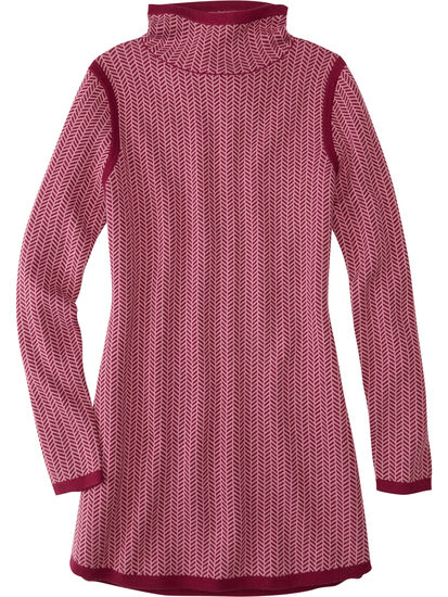 Barra Tunic Sweater - Herringbone: Image 1