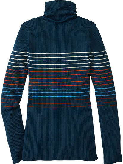 Synergy Ribbed Turtleneck Sweater - Placed Stripe: Image 2