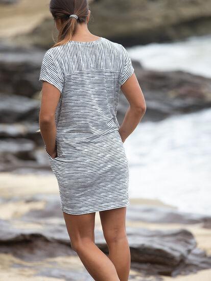Hiolani V Neck Dress - Painted Stripe: Image 5