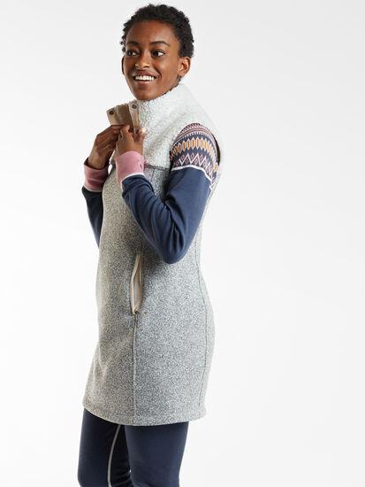 Callitrix Fleece Vest Dress: Image 3