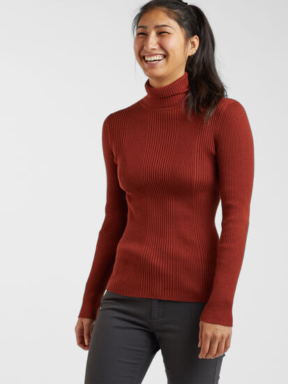 Synergy Ribbed Turtleneck Sweater - Solid: Image 3
