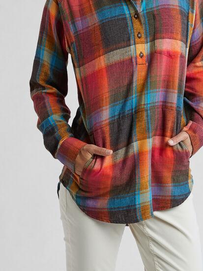 Plaiditude Droptail Long Sleeve Shirt: Image 5