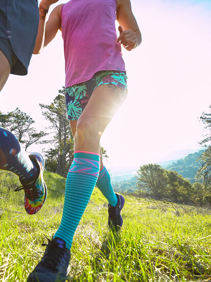 On The Trot Compression Socks - Smitten: Model Image