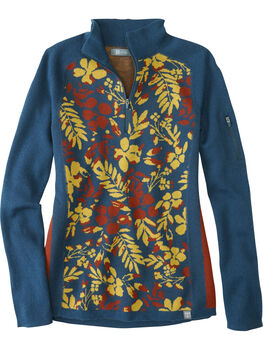 Super Power 1/4 Zip Sweater - Blumen