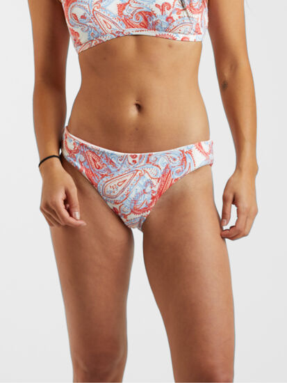 Tidal Reversible Bikini Bottom - Paisley stripe
