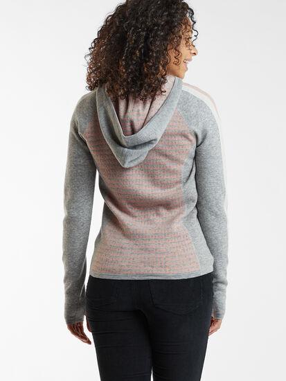 Super Power Full Zip Sweater - Houndstooth Geo: Image 3