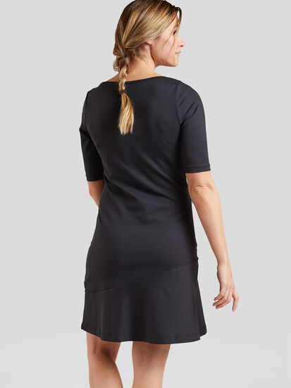 Buttah Boatneck Dress - Solid: Image 3