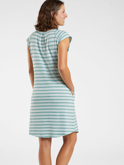 Sativa Short Sleeve Dress - Stripe: Image 4