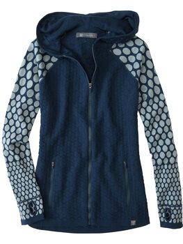 Super Power Full Zip Sweater - Raised Dot