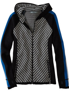 Super Power Full Zip Sweater - Houndstooth Geo