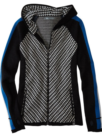 Super Power Full Zip Sweater - Houndstooth Geo: Image 1