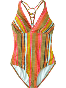 Fergusen One Piece Swimsuit - Cacti Soleil Stripe