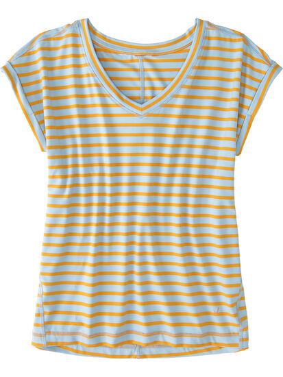 Fluent V Neck Short Sleeve Tee: Image 1