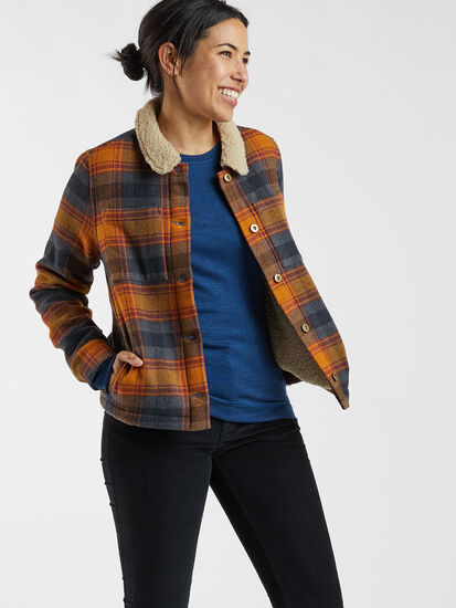 Recycled Lumberjill Jacket: Model Image